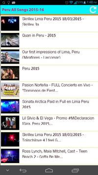 Peru All Songs 2015 apk screenshot