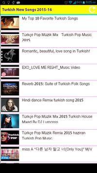 Turkish New Songs 2015 screenshot 7