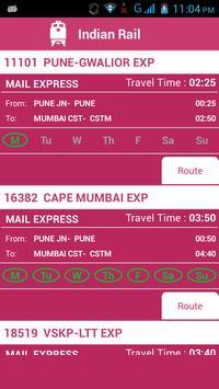 Indian Railway Status تصوير الشاشة 1