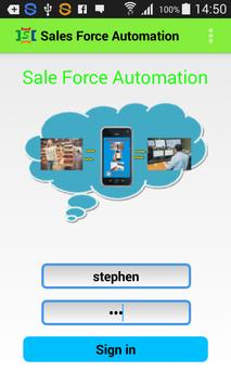 Sales Force Automation poster