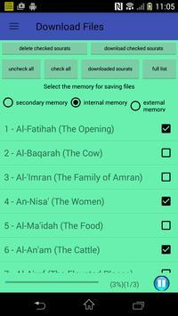 The Holy Quran mp3 (Voice Saad Alghamidi) no ads screenshot 3