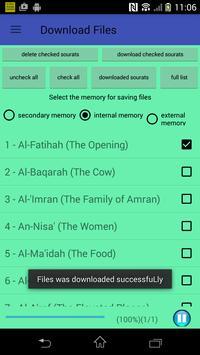 The Holy Quran mp3 (Voice Saad Alghamidi) no ads screenshot 18