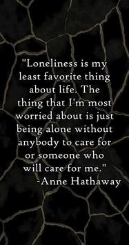 Loneliness Quotes poster