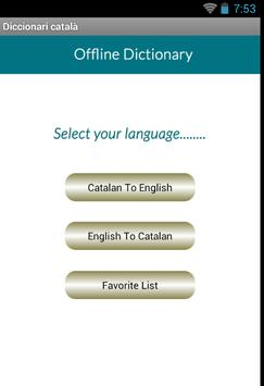 Catalan English Dictionary poster
