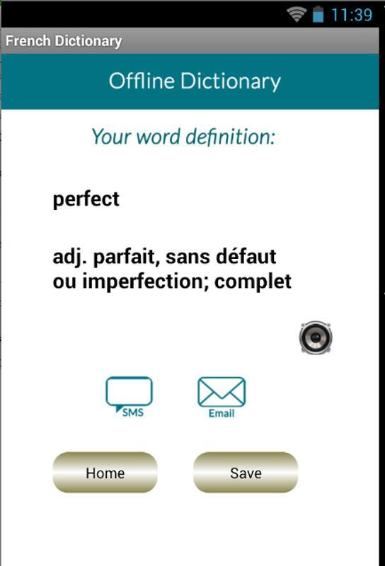 offline definition french