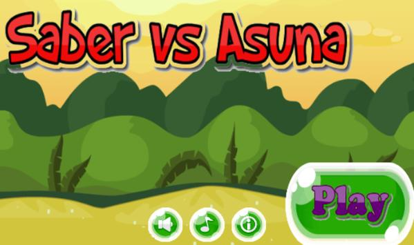 Saber VS Asuna mi poster