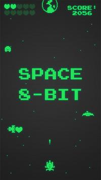Space 8 bit poster