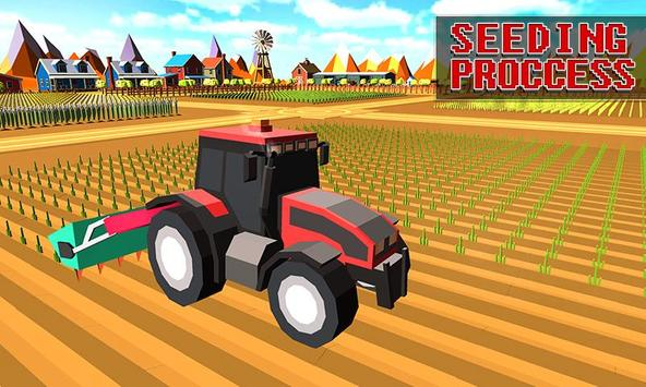 Blocky Plow Farming Harvester apk screenshot