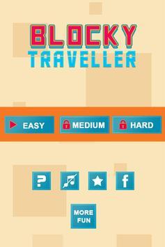 Blocky travelller : Cube kube poster