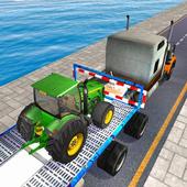 Tractor Cargo Ship Transport icon