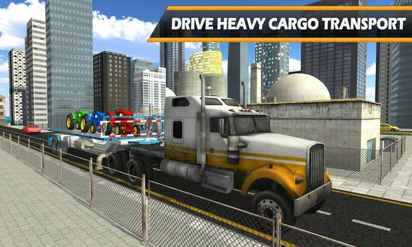 Tractor Cargo Ship Transport poster