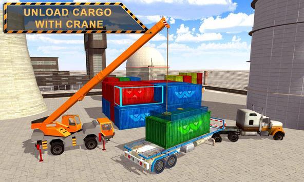 Cargo Crane Labor Truck Sim 17 poster