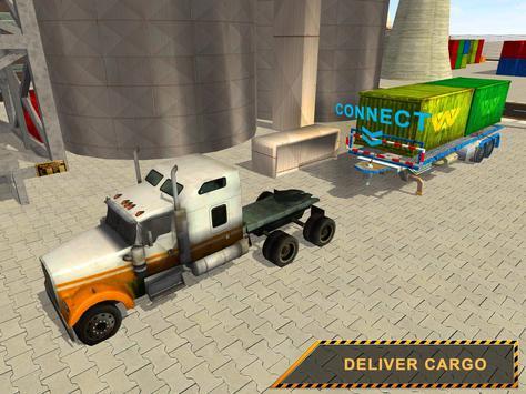 Cargo Crane Labor Truck Sim 17 apk screenshot