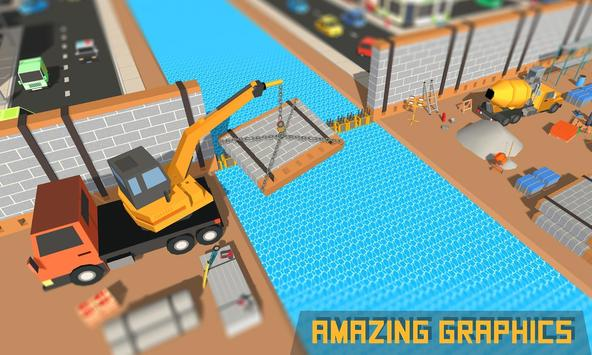 City Builder Wall Construction poster