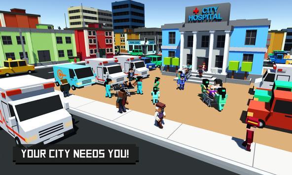 Blocky City Builder Hospital poster