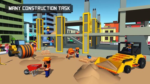 Blocky City Builder Hospital apk screenshot