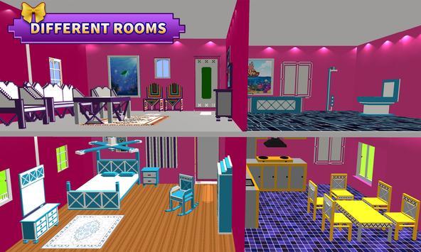 Doll House Design & Decoration : Girls House Games APK