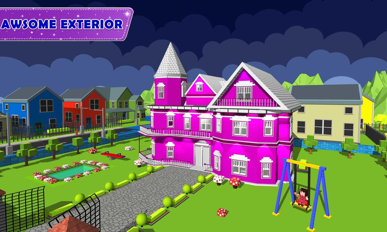 Doll house design decoration 2 girls house game for for Home design games for girls
