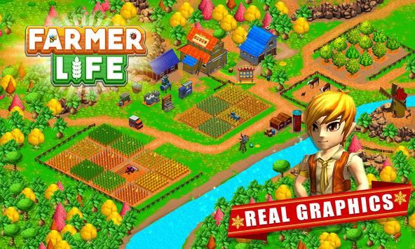 Farmer Village Country Life 🏡 poster