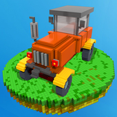 Blocky Tractor Farm Simulator icon