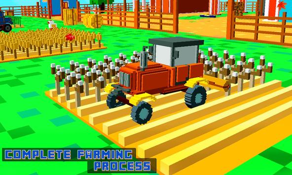 Blocky Tractor Farm Simulator apk screenshot