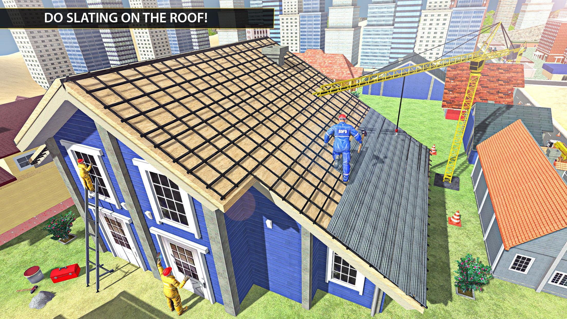 покатый крыша строительство игра для Андроид - скачать APK