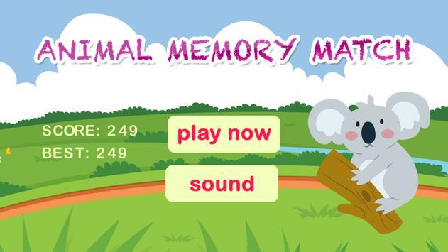 Animal Memory Match HD - Free apk screenshot