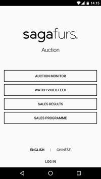 Saga Furs Auction poster