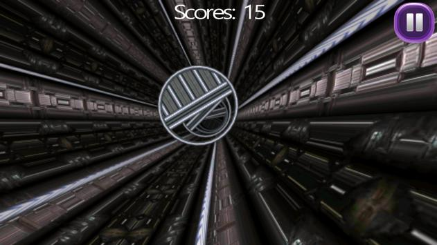 Tunnel Fly Thru — Tube Race 3D screenshot 1