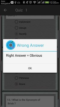 Vocabulary Quiz screenshot 3