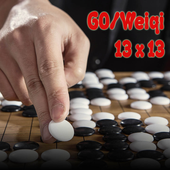 Go or Weiqi Game Board 13x13 icon