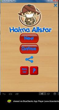 Halma or Chinese checkers poster