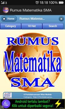 Rumus Matematika SMA poster
