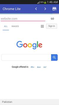 Chrome Lite screenshot 1