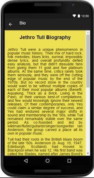 Jethro Tull Music&Lyrics screenshot 1