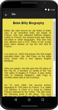Bebe Billy Music&Lyrics screenshot 1