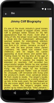 Jimmy Cliff Music&Lyrics screenshot 1