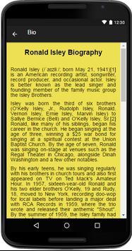 Ronald Isley Music&Lyrics apk screenshot