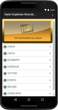 Sarah Brightman Music&Lyrics poster