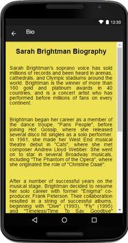 Sarah Brightman Music&Lyrics screenshot 1
