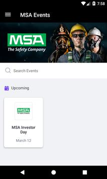 MSA Safety Events screenshot 1