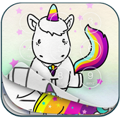 Cute Unicorn Lock Screen icon