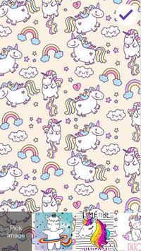 Cute Unicorn Lock Screen poster