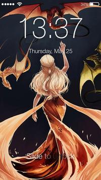 Deignis Targaryen Art Lock Screen apk screenshot