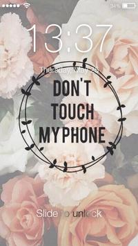 Do not move my phone Lock Screen poster