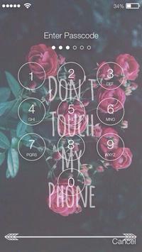 Do not move my phone Lock Screen apk screenshot