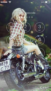 Motorcycles and Girls Screen lock screenshot 2