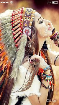 Native American Girl Screen lock poster