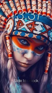 Native American Girl Screen lock screenshot 1