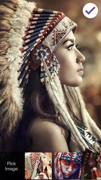 Native American Girl Screen lock screenshot 2